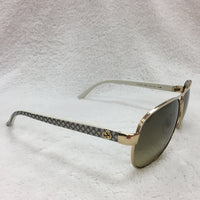 Authentic Gucci Ivory/Gold Aviators