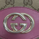 Authentic Gucci Rose Leather Trim Guccissima Canvas Wallet