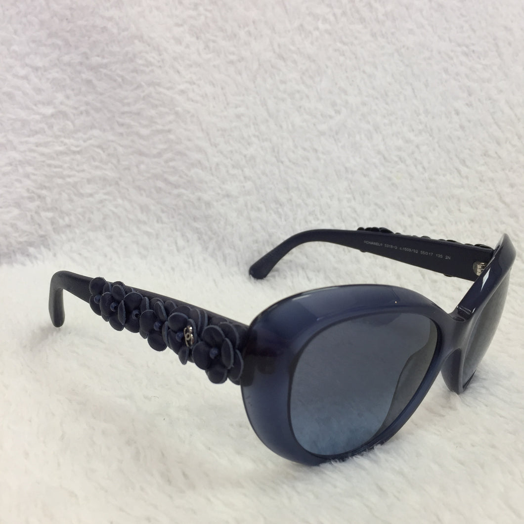 Chanel Blue Flower Sunglasses