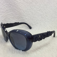 Load image into Gallery viewer, Chanel Blue Flower Sunglasses