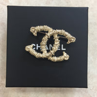 Authentic Chanel Gold Ram Pin 18C