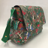 Authentic Gucci Coated Canvas Zoo Diaper Bag