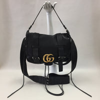 Authentic Gucci Black Marmont Laced Messenger Bag