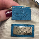 Authentic Gucci Teal Ostrich Soho Disco