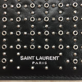 Authentic Saint Laurent Studded Zip Card Holder