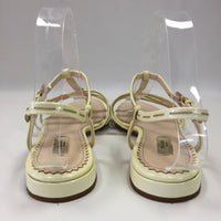 Authentic Prada Yellow Patent Flat Sandals Women's 38 / 7 - 7.5