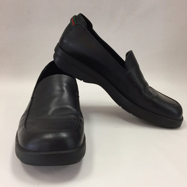 Gucci Black Leather Signature Stripe Loafers Women's Size 37 / 6.5