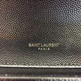 Authentic Saint Laurent Black on Black Kate Clutch