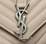 Authentic Saint Laurent Antique Rose Medium College Bag