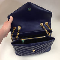 Authentic Saint Laurent Sapphire Blue LouLou