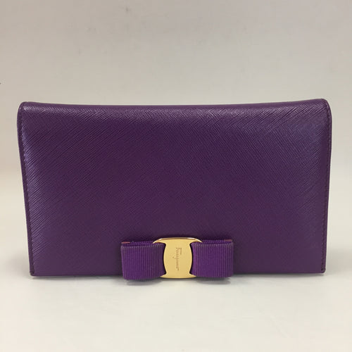 Ferragamo Grape Saffiano