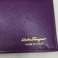 "Authentic Ferragamo Grape Saffiano ""Miss Vara"" Wallet on Chain"