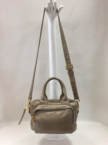 Prada Taupe Vitello Shine Camera Bag