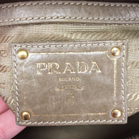 Authentic Prada Taupe Vitello Shine Camera Bag
