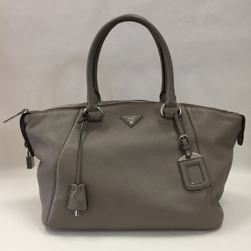 Prada Taupe Leather Tote