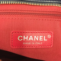 Authentic Chanel Navy/Black Calfskin Lg Gabrielle Tote