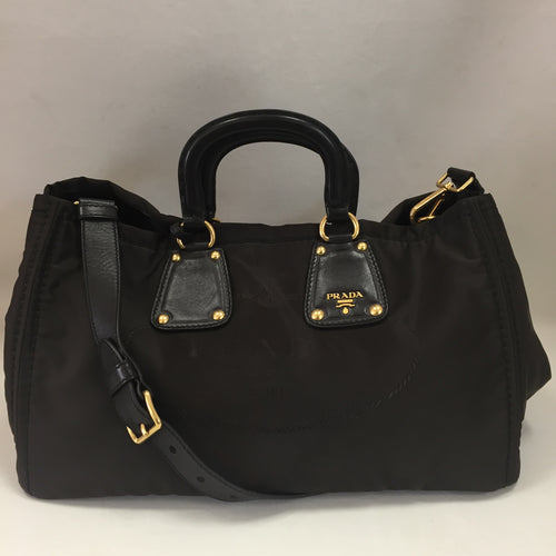 Prada Brown Tessuto Tote With Strap