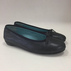 Thierry Rabotin Navy Perforated Flats Women's Size 37.5