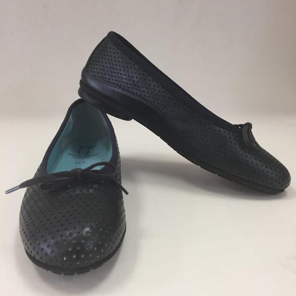 Authentic Thierry Rabotin Navy Perforated Flats Women's Size 37.5