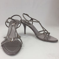 Authentic Rene Caovilla Taupe Selina Strass 85 Sandals Women's Size 38.5