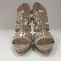 Authentic Nina Lilou Beige Patent Sandals Women's Size 40