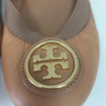Load image into Gallery viewer, Tory Burch Sand Caroline Elastic Ballet Flats Women's Size 7.5