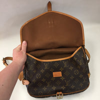 Authentic Louis Vuitton Monogram Saumur 30