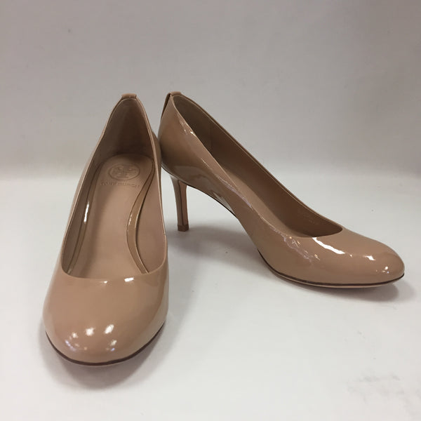 Authentic Tory Burch Nude Patent Pumps Women's Size 7.5