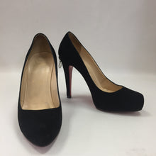 Load image into Gallery viewer, Christian Louboutin Rolando Black Suede Zip Heels 120 Women's Size 37 (Fits 6.5)