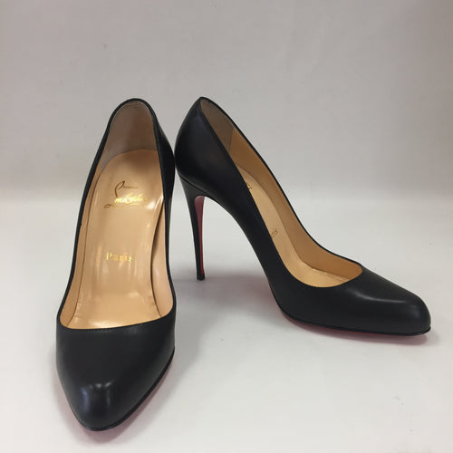 Christian Louboutin Black Kid Leather Elisa 100 Women's Size 37.5