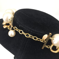 Authentic Chanel Jumbo Pearl/Gold Chain Necklace