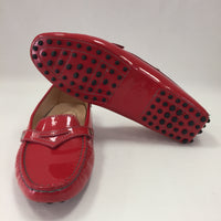 Authentic Tod's Red Patent Driving Loafers Women's Size 7