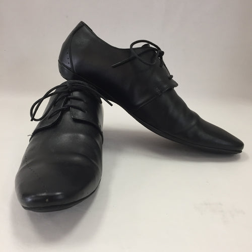 Prada Black Leather Oxfords Men's Size 11
