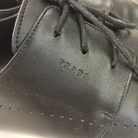 Authentic Prada Black Leather Oxfords Men's Size 11