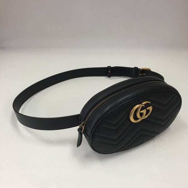 Authentic Gucci Black Marmont Large Belt Bag 95