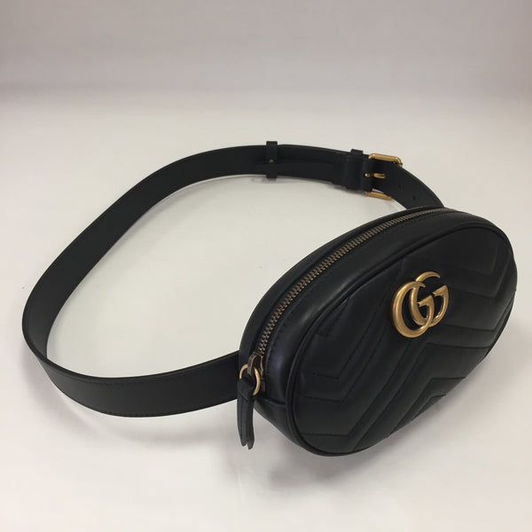Authentic Gucci Black Marmont Small Belt Bag 85