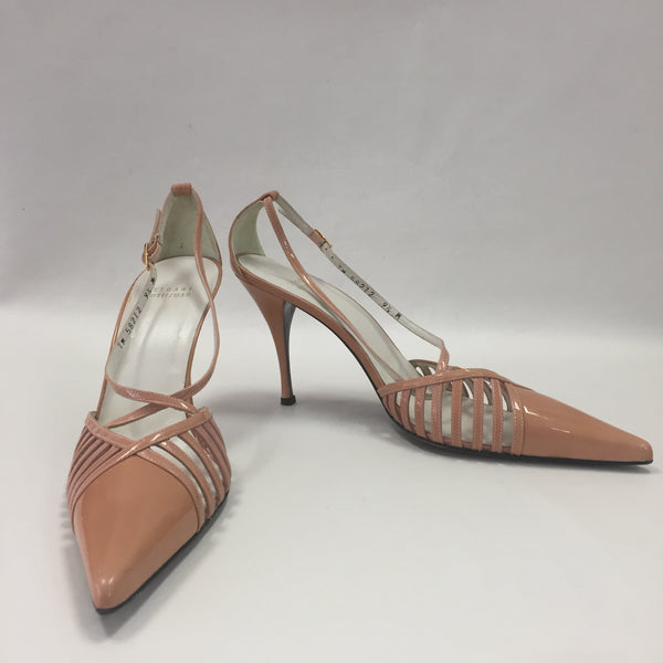 Authentic Stuart Weitzman Blush Patent Pumps Women's Size 9.5