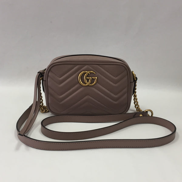 Gucci Mini Marmont Rose Beige Camera Bag
