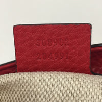 Gucci Red Medium Leather Soho Chain Tote
