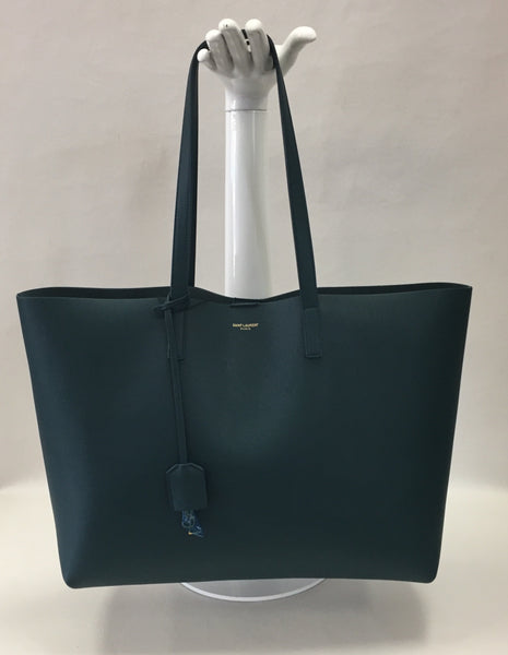 Authentic Saint Laurent Jade Shopper Tote And Pouch