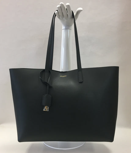 Saint Laurent Forest Green Shopper Tote And Pouch