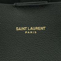 Authentic Saint Laurent Forest Green Shopper Tote And Pouch