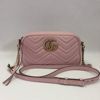 Authentic Gucci Rose Pink Marmont Camera Bag Small