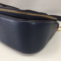 Authentic Marc Jacobs Navy Leather Recruit Nomad Saddle Bag