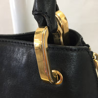 "Authentic Marc Jacobs Black Leather Paradise ""Amber"" Studded Hobo Tote"