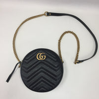 Authentic Gucci Marmont Mini Round Bag