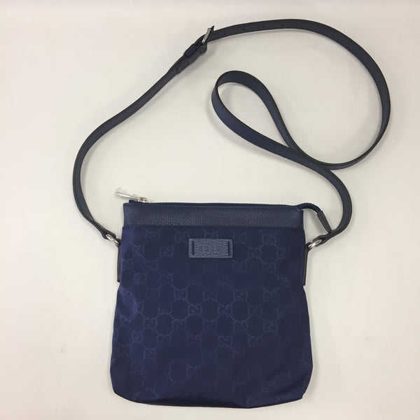 Authentic Gucci Navy Nylon Mini Cross Body Pouch