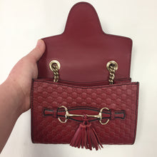 Load image into Gallery viewer, Gucci Red Micro Emily Cross Body Bag