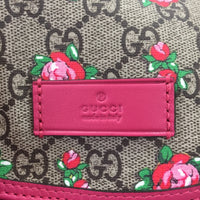 Authentic Gucci Pink Roses Diaper Bag