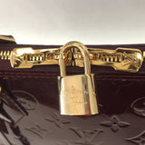 Authentic Louis Vuitton Rouge Fauviste Vernis Alma GM